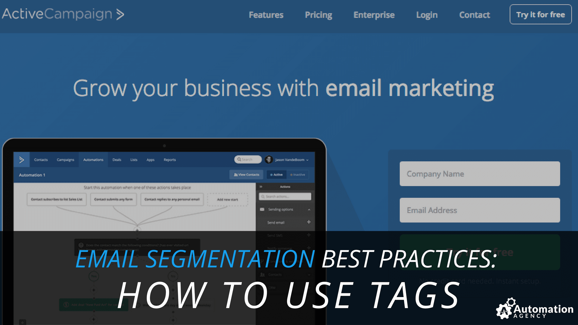 email segmentation how to use tags