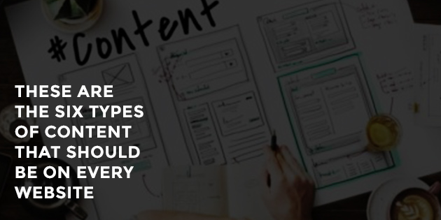 Six Types of Content Blog Feature